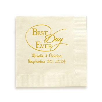 Best Day Ever Napkin - Foil-Pressed
