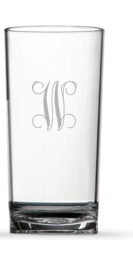 Monogrammed Clarus Highball- set of 4
