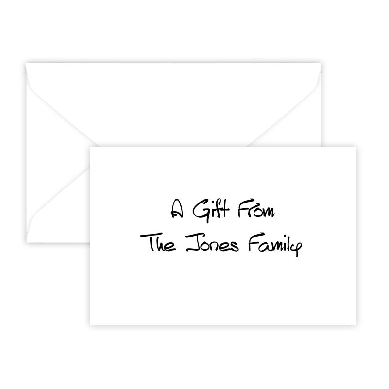Highland Horizontal Raised Ink Gift Enclosure Card