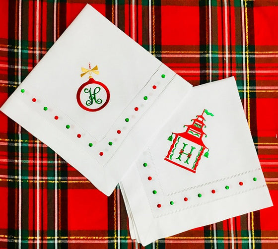 Red & Green Swiss Dot Napkins