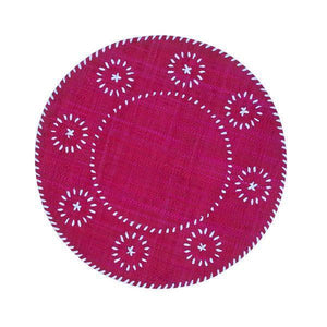 Raffia Placemat with Monogram