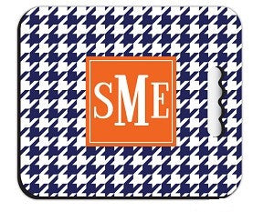 Monogrammed Houndstooth Stadium Cushion