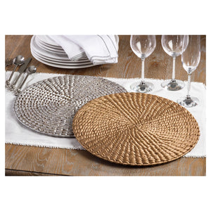 Woven Water Hyacinth Round Placemat