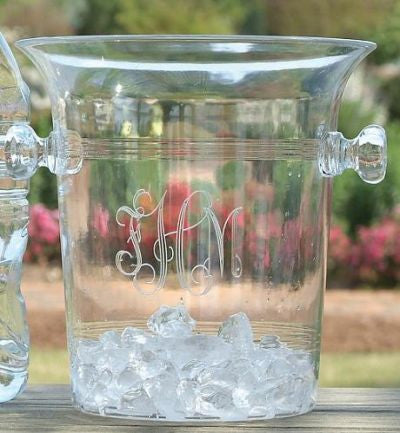 Monogrammed Acrylic Champagne Cooler