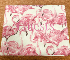 Flamingo Linen Guest Book