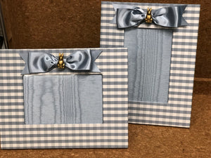 Little Rabbit Gingham Silk Frame