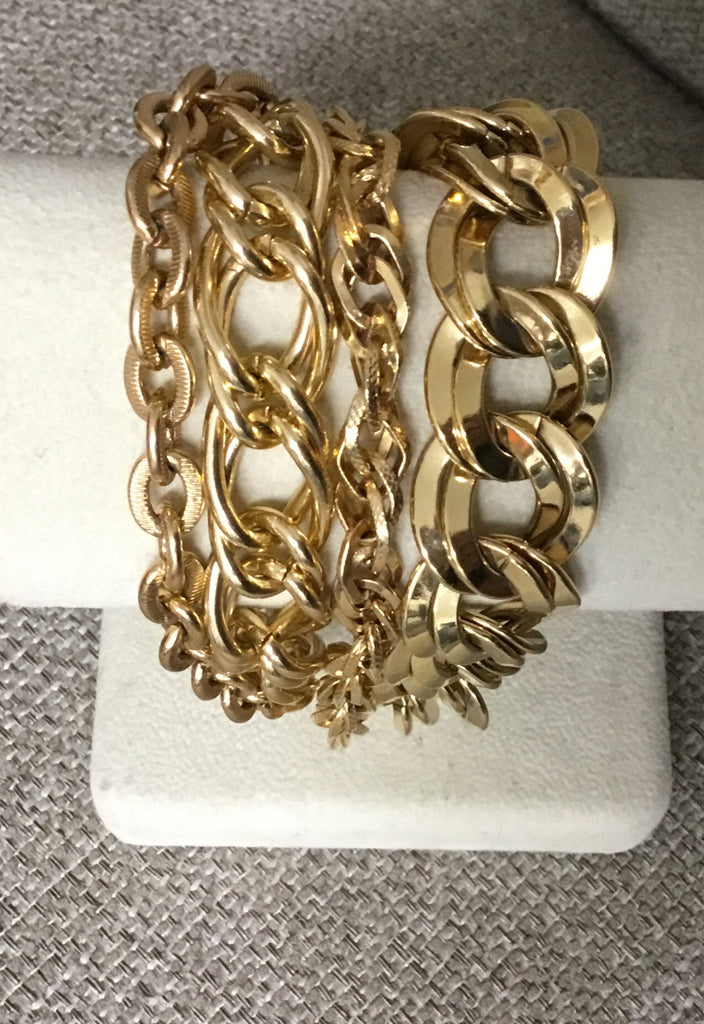 Multi Gold Chain Bracelet