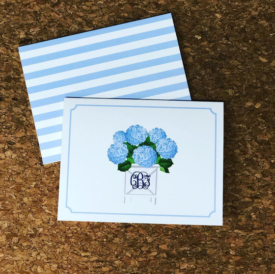Hydrangea Folded Notecards