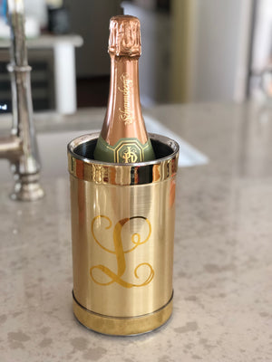 Monogrammed Brushed Wine Cooler