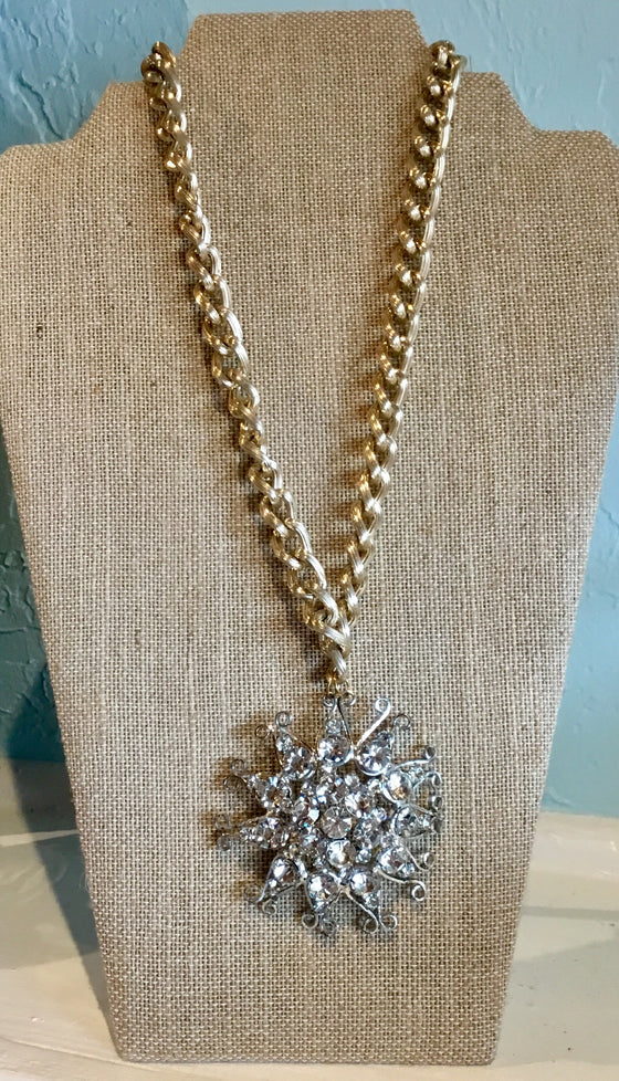 Vintage Snowflake Necklace