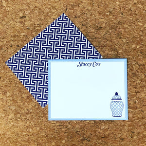 Geometric Jar Flat Notecard