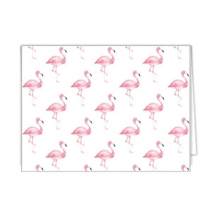 Watercolor Flamingo Folded Notecards