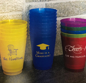 Monogrammed Frosted Party Tumblers