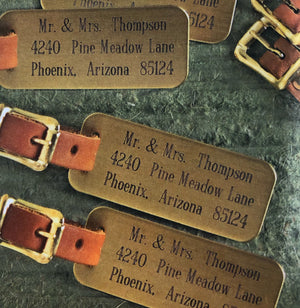 Monogrammed Brass Luggage Tags