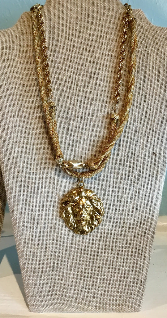 Vintage Leo the Lion Necklace