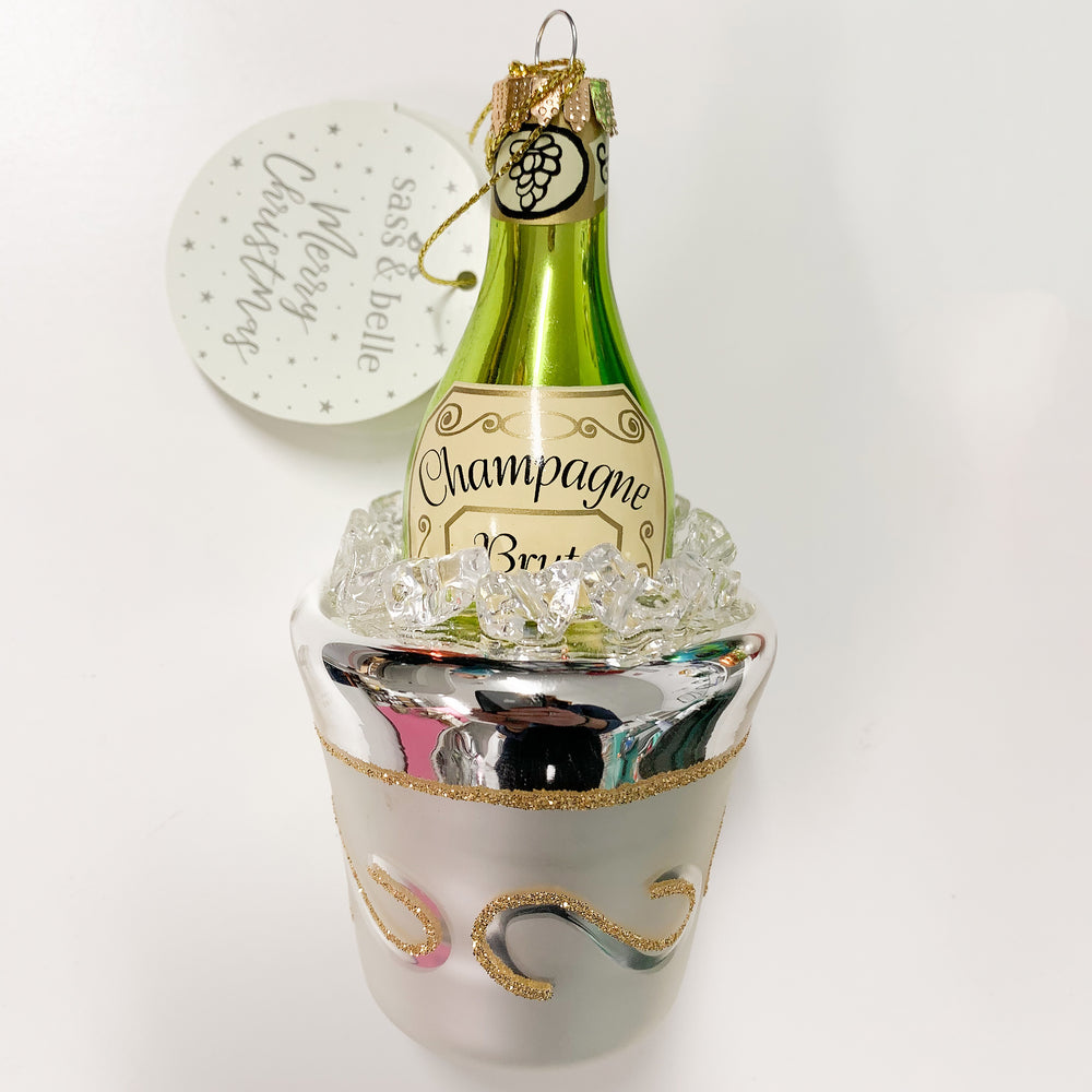 Let's Celebrate Champagne on Ice Ornament