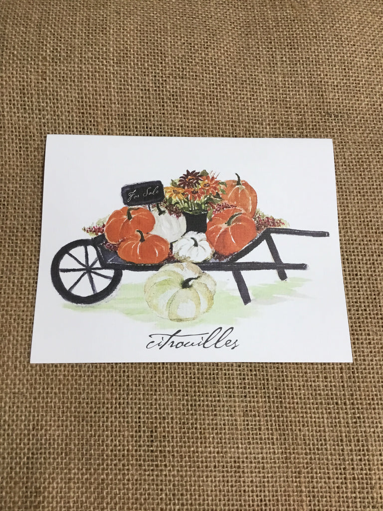Pumpkin Cart Notecards