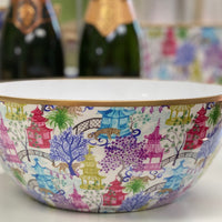Garden Party Small Enamel Bowl
