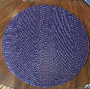 Aubergine Leather Python Placemats