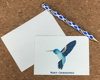 Hummingbird Folded Notes