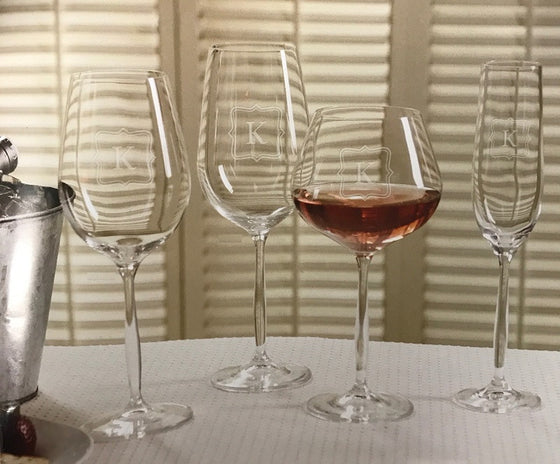 Monogrammed Bella Wine Glasses