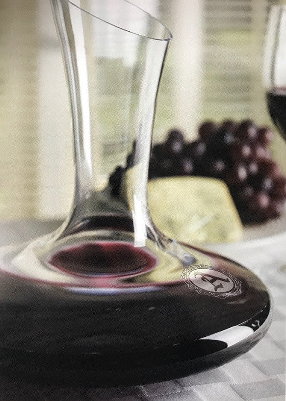 Monogrammed Renata Wine Decanter