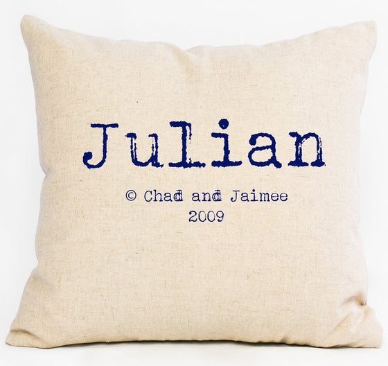 Name + Parents Custom Name Pillow