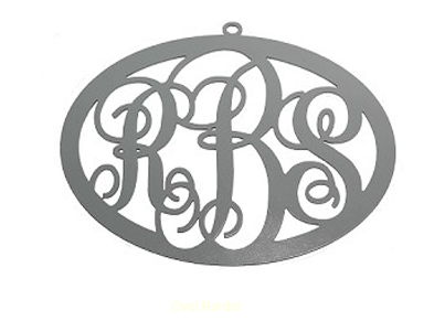 Classic Oval Monogram Door Hanger