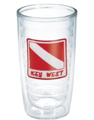 Monogrammed Key West Dive Flag Tervis Tumbler