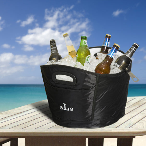 Monogrammed Beach Tub Cooler