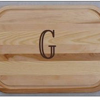 Large Monogrammed Wood Cutting Board