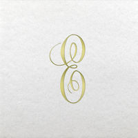 Linun Gold Single Initial Antoinette Beverage Napkins