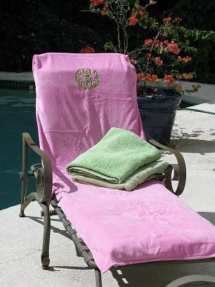 Tremendous Poolside Accessories The Monogram Merchant Theyellowbook Wood Chair Design Ideas Theyellowbookinfo