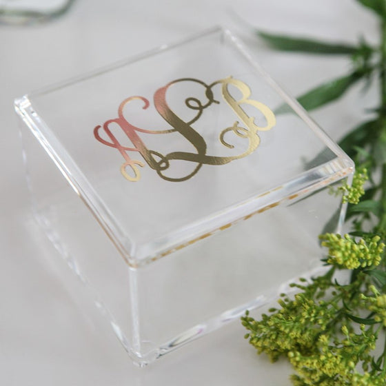 Personalized Vinyl Acrylic Square Box