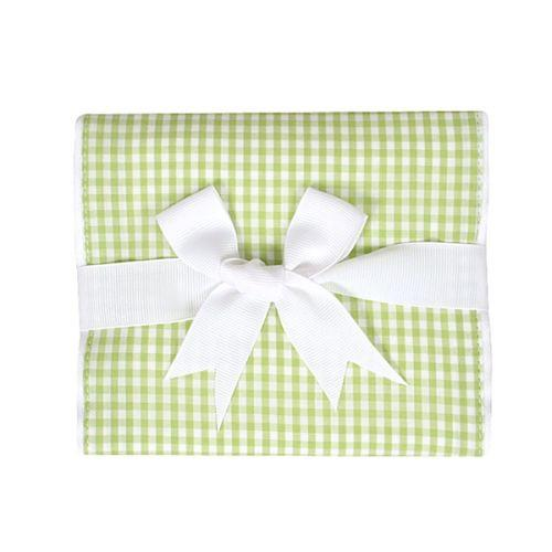 Gingham Burp Pad