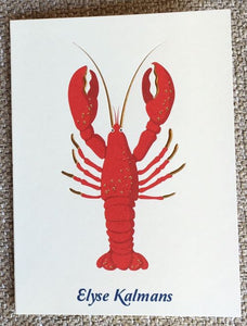 Personalized Lobster Folded Notes