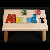 Large Name Puzzle Stool