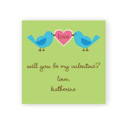Love Birds Square Sticker