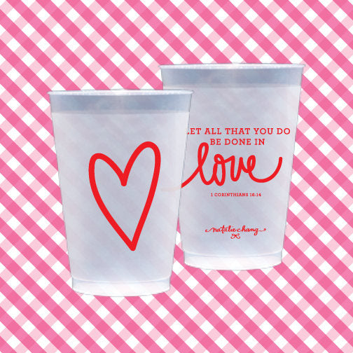 Love Scripture Shatterproof Cups