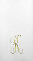 Linun Gold Single Initial Antoinette Guest Towels