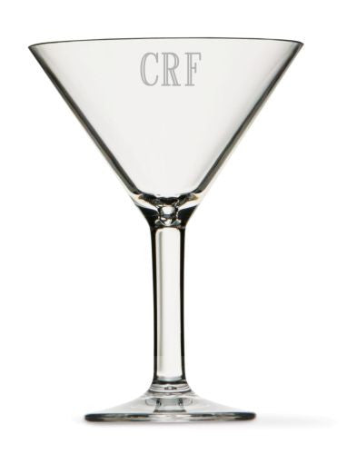 Monogrammed Clarus Martini Glass- Set of 4