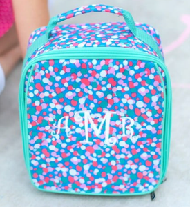 Monogrammed Confetti Pop Lunch Box