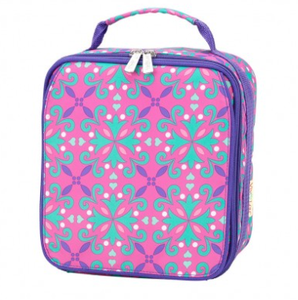 Monogrammed Lila Lunch Box