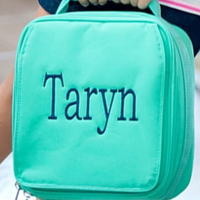 Monogrammed Mint Lunch Box