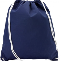 Monogrammed Navy Gym Bag