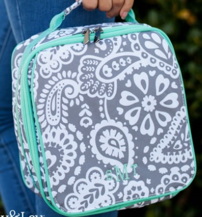 Monogrammed Parker Paisley Lunch Box