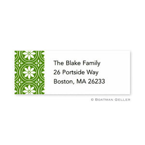 Medallion Green Address Label