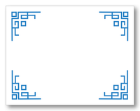 Chinoiserie Fretwork Flat Note Card
