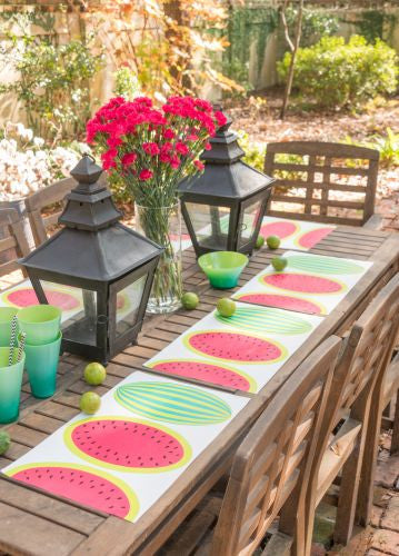 Melon Rouge Paper Placemats