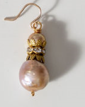 Ming Pearl with a Crown Spacer Earring